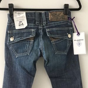 Plastic by Gly Jeans - Plastic by Gly. Style#1343 Detailed Denim. SZ 24